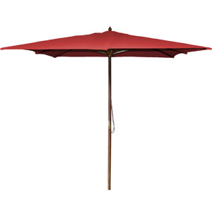 Square Market Umbrellas Red 8.5-Foot Square Wood Umbrella