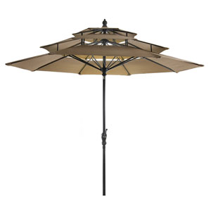 Khaki Three Tier Umbrella