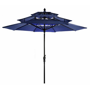 Navy Three Tier Umbrella