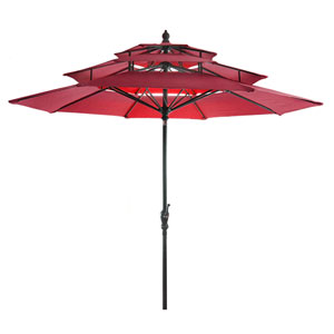 Red Three Tier Umbrella