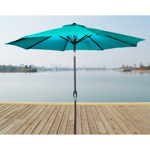 Aruba 9-Foot Steel Market Umbrella