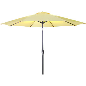 Steel Market Umbrellas Canary 9-Foot Round Steel Umbrella