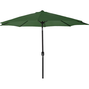 Steel Market Umbrellas Green 9-Foot Round Steel Umbrella