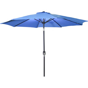 Steel Market Umbrellas Royal Blue 9-Foot Round Steel Umbrella
