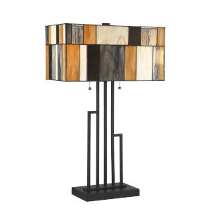 Concertina Multicolor 26-Inch Two-Light Table Lamp
