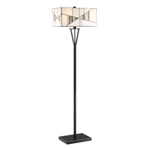 Zellah Mosaic 62-Inch Two-Light Floor Lamp