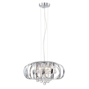 Creola Chrome Clear 17-Inch Five-Light Pendant