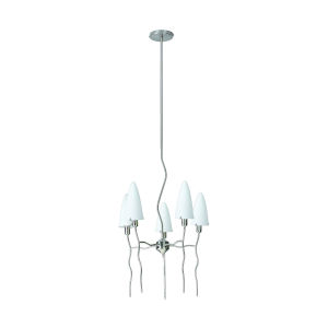 Kaub Frosted Five-Light Chandelier