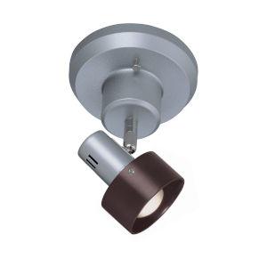 Duccio Dark Walnut One-Light Semi Flush Mount