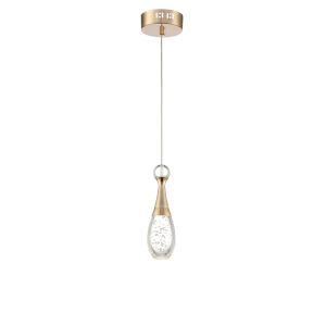 Glain White And Gold Five-Inch One-Light LED Mini Pendant