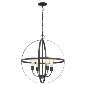 Manton Black Four-Light Chandelier