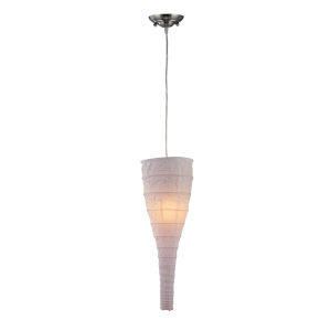 Moonlight Off White Seven-Inch One-Light Mini Pendant