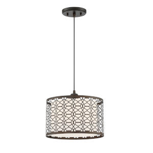 Julia Dark Bronze 12-Inch One-Light Pendant