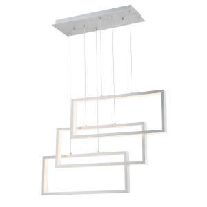 Pankler Aluminum 37-Inch Three-Light LED Pendant
