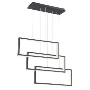 Pankler Black 37-Inch Three-Light LED Pendant