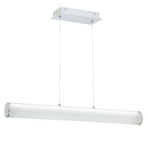 Quilla Chrome Diamond Acrylic 33-Inch LED Pendant