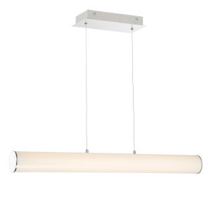 Quilla Chrome Frost Acrylic 33-Inch LED Pendant