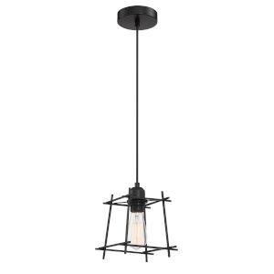 Kansas Matte Black Six-Inch One-Light Mini Pendant