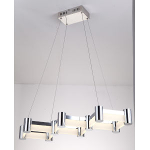 Kellen Chrome 33-Inch One-Light LED Pendant