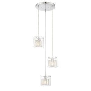 Dahl Chrome Three-Light LED Pendant