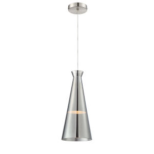 Cabello Chrome Seven-Inch One-Light Mini Pendant