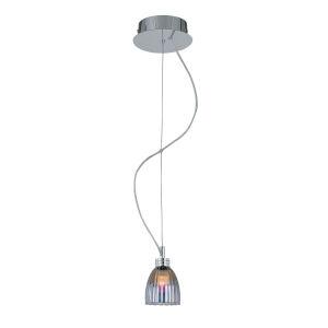 Fantastico Plated Iridescent Six-Inch One-Light Mini Pendant