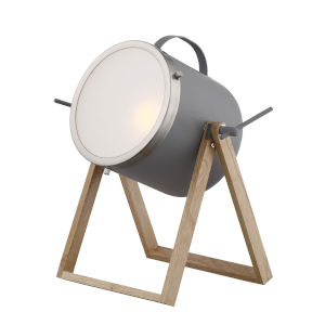Sully Gray Natural One-Light Desk Lamp