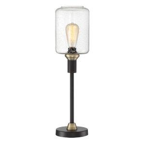 Luken Black Antique Brass 24-Inch One-Light Table Lamp