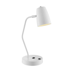 Ronnie White One-Light Desk Lamp