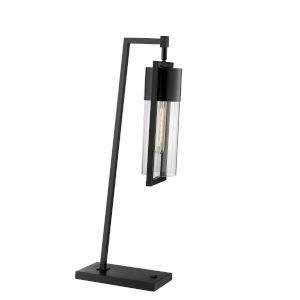 Norman Black One-Light Desk Lamp