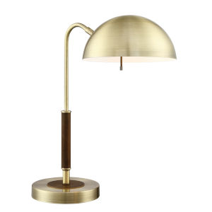 Clouseau Antique Brass One-Light Desk Lamp