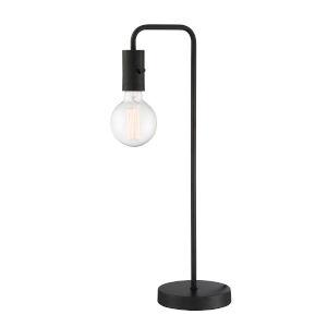 Nilmani Black One-Light Desk Lamp