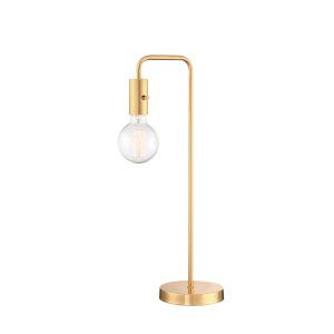 Nilmani White And Gold One-Light Desk Lamp