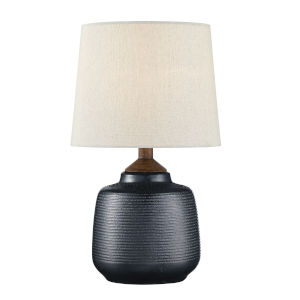 Lismore Bronze and White 17-Inch One-Light Table Lamp