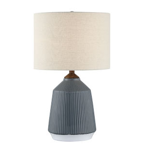Saratoga Light Beige 24-Inch One-Light Table Lamp