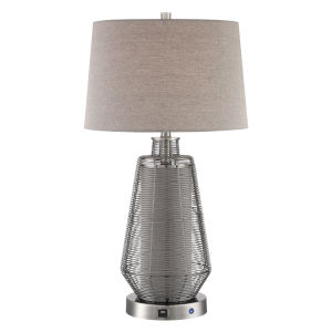 Connor Tan 29-Inch One-Light LED Table Lamp