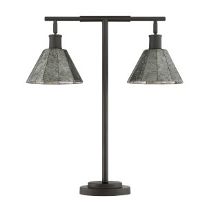 Busson Dark Brown Two-Light Table Lamp
