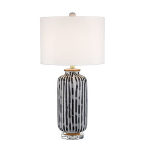 Vonte Patterned One-Light Table Lamp