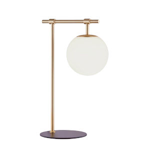 Lencho Gold Frost Glass One-Light Table Lamp