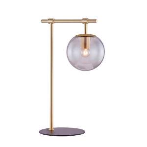 Lencho Gold Smoke Glass One-Light Table Lamp