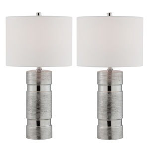 Lucano Silver Two-Light Table Lamp, Set of Two
