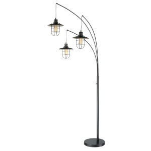 Lanterna Ii Dark Bronze 89-Inch Three-Light Arch Lamp