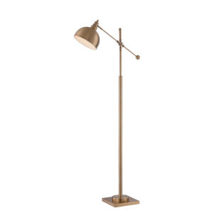 Cupola Brushed Brass 58-Inch One-Light Floor Lamp
