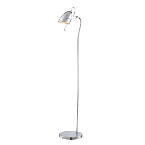 Kanoni Chrome 55-Inch One-Light Floor Lamp