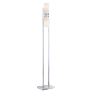 Caesarea Frosted 63-Inch Two-Light Floor Lamp