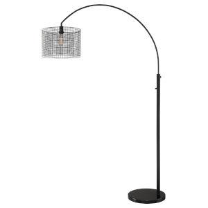 Hamilton Black 80-Inch One-Light Arch Lamp