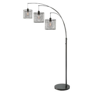 Hamilton Black 87-Inch Three-Light Arch Lamp