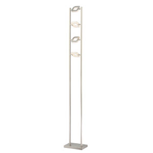 Zale Brushed Nickel 67-Inch Four-Light LED Floor Lamp