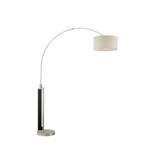 Theoris Brushed Nickel One-Light Arc Floor Lamp