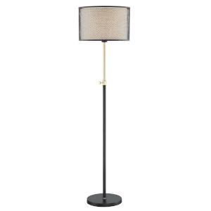 Elena Coffee Gold 63-Inch One-Light Floor Lamp
